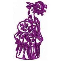 Geisha Outline embroidery design