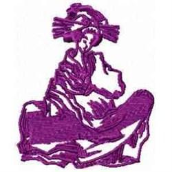 Exotic Geisha embroidery design