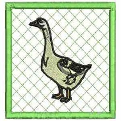 Goose Coaster embroidery design