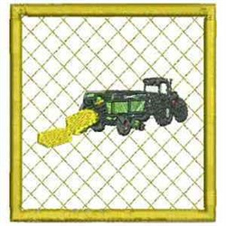 Hay Truck Coaster embroidery design