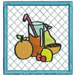 Mixed Fruit Coaster embroidery design
