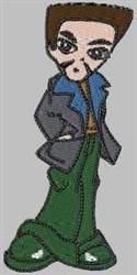 Fashion Boy embroidery design