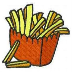 French Fries embroidery design
