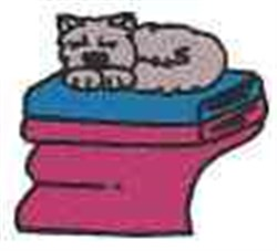 Cat Sleeping embroidery design