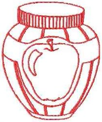 Apple Jelly Outline embroidery design