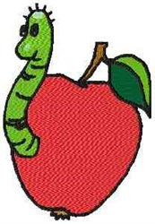 Worm In Apple embroidery design