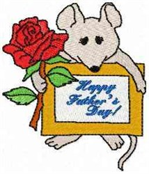 Mouse Happy Fathers Day embroidery design