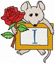Mouse Note I embroidery design