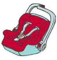 Infant Carrier embroidery design