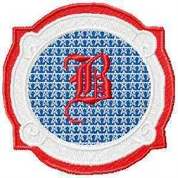 Patriotic Font B embroidery design