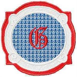 Patriotic Font G embroidery design