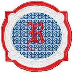 Patriotic Font R embroidery design