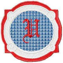 Patriotic Font U embroidery design