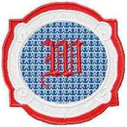 Patriotic Font W embroidery design