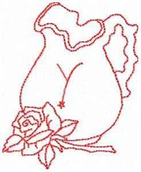 Rose Pitcher Letter Y embroidery design