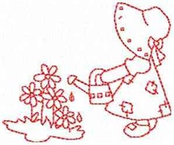 Sunbonnet Girl embroidery design