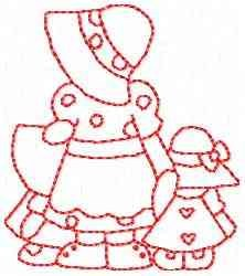 Redbonnet Girls embroidery design