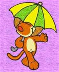 Lion In Umbrella embroidery design