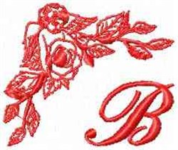 Valentine Font B embroidery design