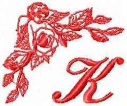 Valentine Font K embroidery design