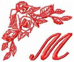 Valentine Font M embroidery design