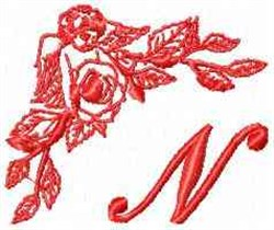 Valentine Font N embroidery design
