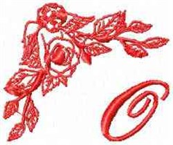 Valentine Font O embroidery design