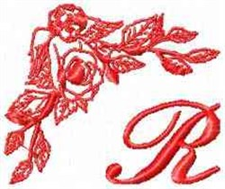 Valentine Font R embroidery design
