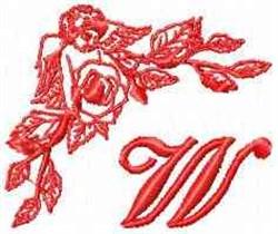 Valentine Font W embroidery design