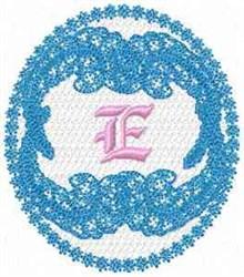 Victorian Lace E embroidery design