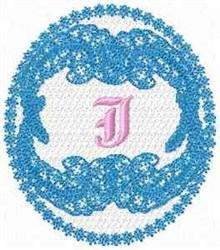 Victorian Lace J embroidery design