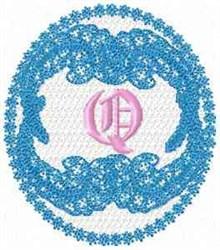 Victorian Lace Q embroidery design