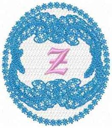 Victorian Lace Z embroidery design