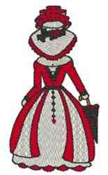 Victorian Bonnet Lady embroidery design