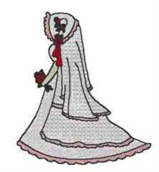 Victorian Bride embroidery design