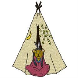 Teepee Girl embroidery design