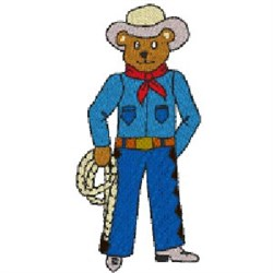 Bear Cowboy embroidery design