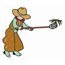 Cowboy embroidery design