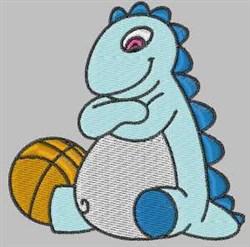 Basketball Dinosaur embroidery design