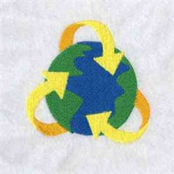 Recycling Symbol embroidery design