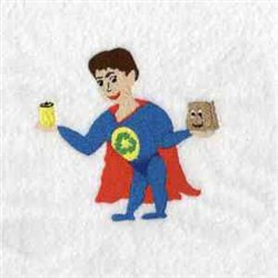 Recycling Man embroidery design