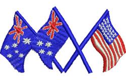 Australia & United States embroidery design