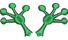 Frogs Feet embroidery design