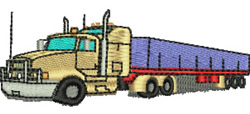 Kenworth Truck embroidery design