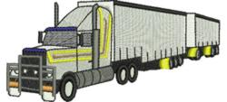 Refrigerator Truck embroidery design