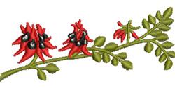 Sturts Desert Pea embroidery design