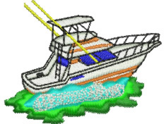 Game Boat embroidery design
