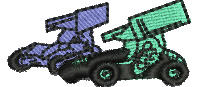 Sprint Cars embroidery design