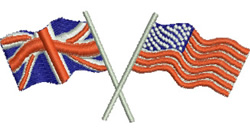 American and British Flags embroidery design