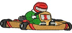 Go Kart embroidery design